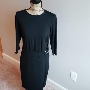NWOT J. Jill Wearever Black Faux Wrap Dress, used for sale